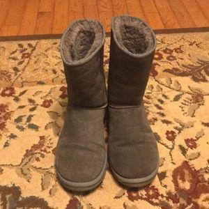 Grey UGG short boots